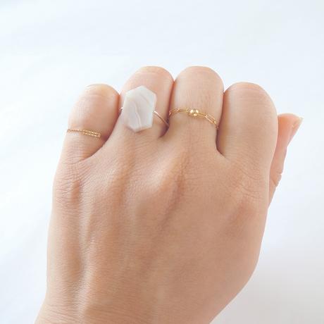 K10 peal pink agate ring