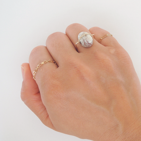 K10 crazy race agate ring