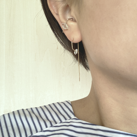 K10 simple ear cuff □_stone