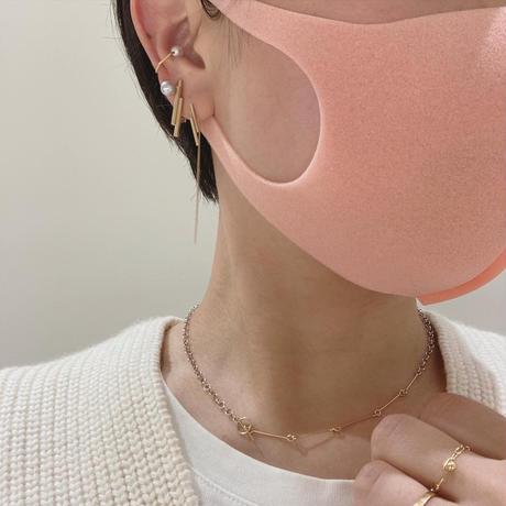 K10 simple earcuff  hexagon