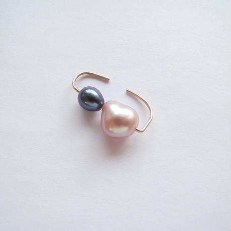 K10 simple earcuff zero (pink×blue)