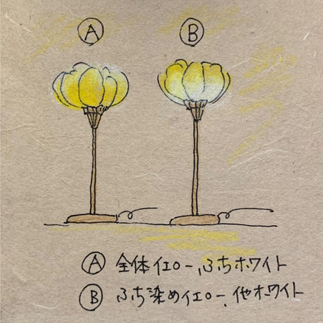 M様オーダー/薔薇テーブルランプ・ハイ