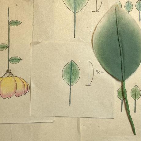 和紙の葉っぱ/大1枚