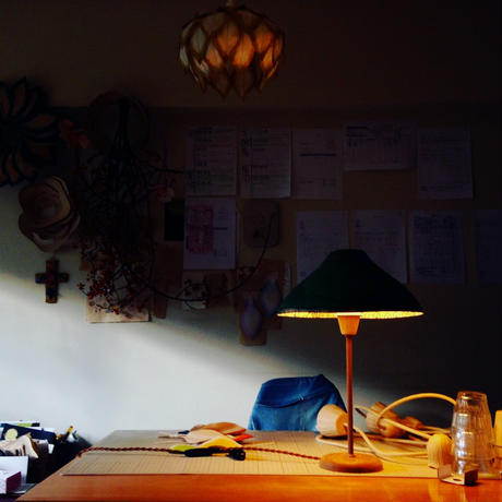 山&線画/テーブルランプ