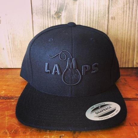 LAMPSスナップバックウール ブラック×ブラック
