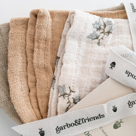 【garbo&friends】garbo&friends   Bluebell  Burp Cloths 3set
