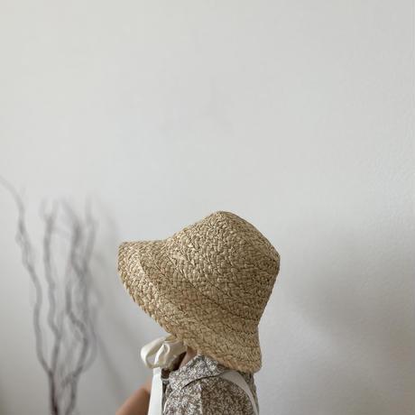 Raffia straight hat