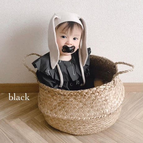 【bibs】supreme/2 set(black・ivory)