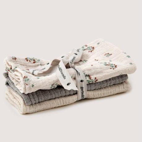 【garbo&friends】garbo&friends  clover  Burp Cloths 3set