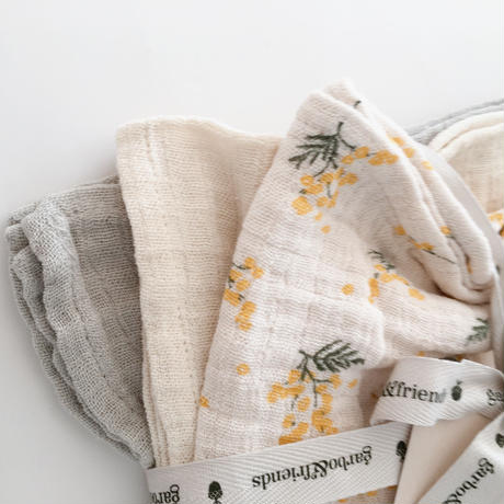 【garbo&friends】garbo&friends  Mimosa Burp Cloths 3set