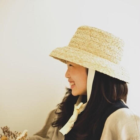 outlet!!Raffia bucket hat