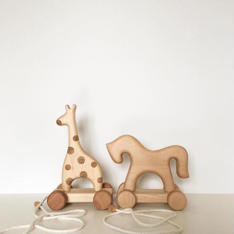 【tateplota】wood push toy   キリン