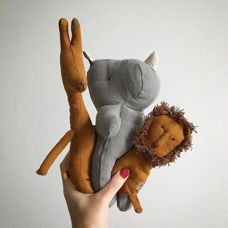 【maileg】⚫︎lion・rihino rattle  ⚫︎Elephant Crinkle Toy