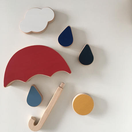 The red umbrella stacking and balance toy