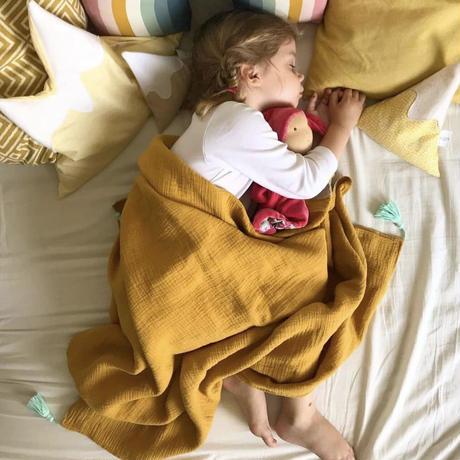 【rokka design】Hemp/muslin baby blanket - yellow