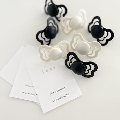 【bibs】supreme/2 set(black・ivory)