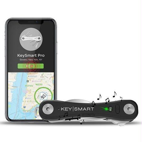KEYSMART PRO ブラック キースマート プロ tile 内臓 LEDライト 付き トラッキング キーケース