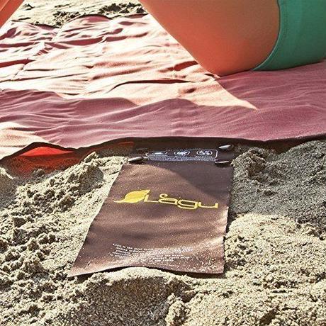 2人用 ラージサイズ Lagu 砂がつかない ビーチブランケット ビッグサイズ レジャーシート ラグマット ビーチヨガ