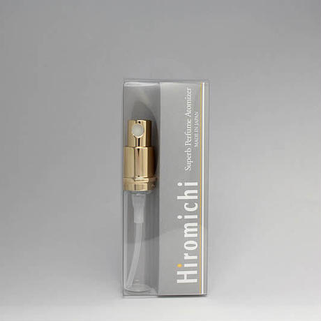 日本製 消毒用エタノールにも対応!香水移し替えに便利なノズル&ジョーゴ付 M13-PRG1  Hiromichi パースメタルアトマイザー 容量3ml用 交換用本体 ゴールドポンプ