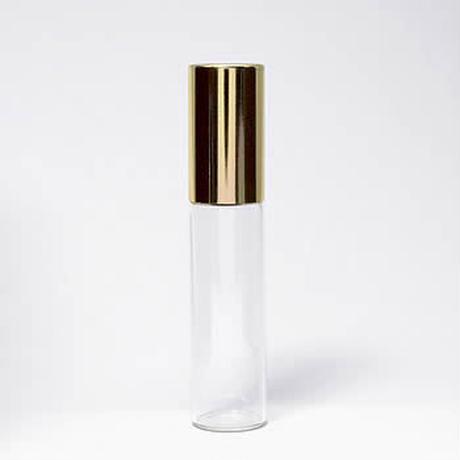 GRG-101-050  5mlクリアガラス ゴールドキャップロールオン 5個セット