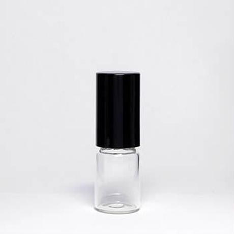 GRB-101-020    2mlクリアガラスブラックキャップロールオンボトル 5個セット