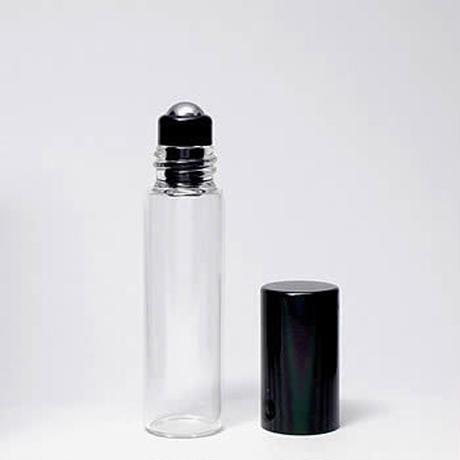 GRB-101-050  5mlクリアガラス ブラックキャップロールオンボトル 5個セット