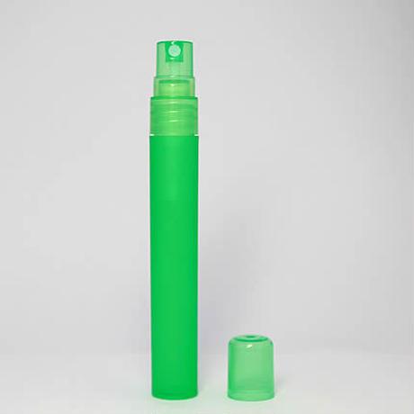 消毒用エタノール持ち歩き容器としておススメ!PSC-201-050 10ml スクリュー式ポリプロピレンアトマイザー メロンソーダ 1個