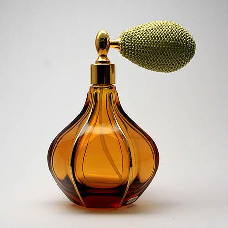 日本製 ルームフレグランス用としてもおススメ!香水移し替えに便利なノズル&ジョーゴ付  HiromichiバルブアトマイザーL,ストレート大百合根アンバー  手描き金線