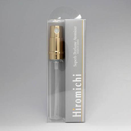 日本製 消毒用エタノールにも対応!香水移し替えに便利なノズル&ジョーゴ付 M15-PRG2  Hiromichi パースメタルアトマイザーL用 (容量7ml)交換用本体 ゴールドポンプ
