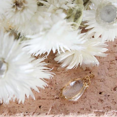 水晶のワイヤーペンダントトップ(MAMER18)
