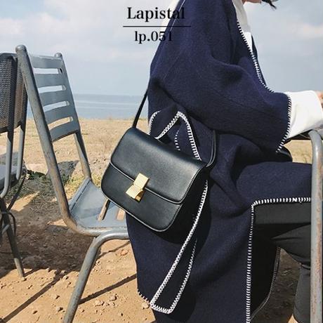 lp.051牛本革クラシカルショルダーバッグ/M