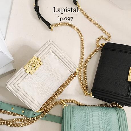 【即納】lp.097クロコパターンビンテージチェーンバッグ