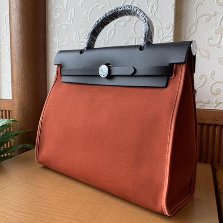 【一部カラー5日以内発送】lp.133  ワンハンドルハイブリッドレザーバッグ