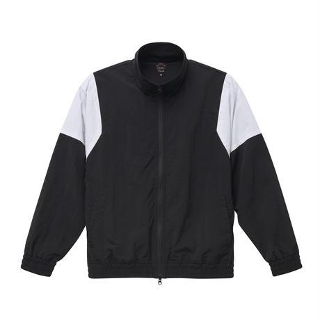 ナイロントラックジャケット ブラック×ホワイト