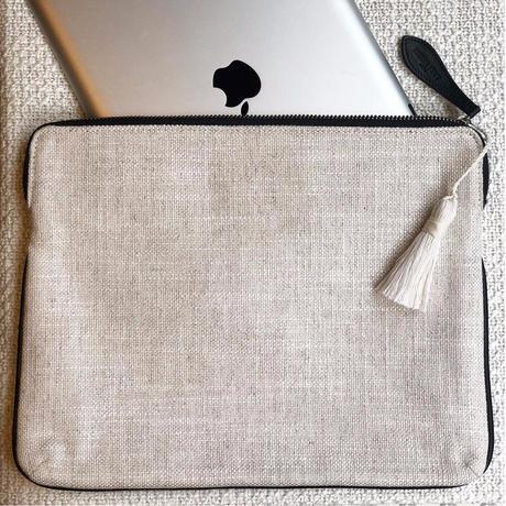 """Pierre Frey """"Pochette Portofino"""" with key tassel  iPadcase"""