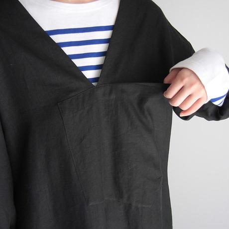 COUNTERPOINT linen dress (black)