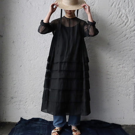 Tabrik  organdy dress (black)
