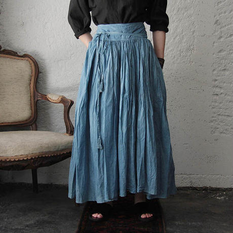 Tabrik gathered skirt (hon-aizome B)