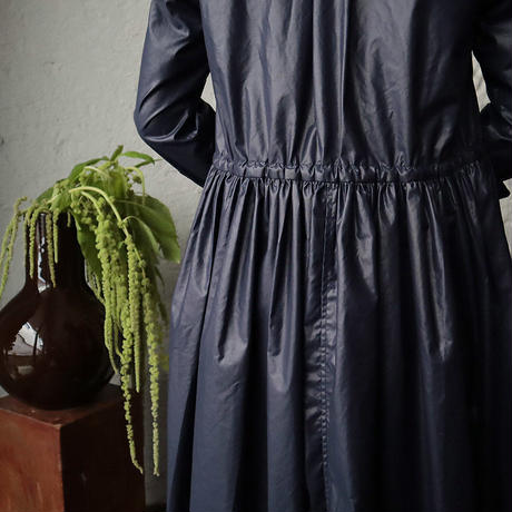 R&D.M.Co- thin cloth front open dress (navy)
