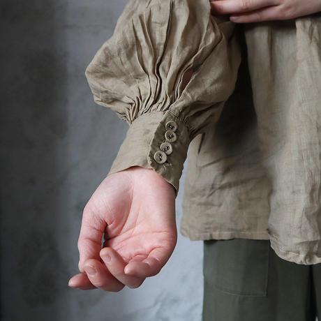 Tabrik back pleats blouse ( khaki)