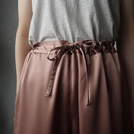NOTA  satin pants (beige pink)