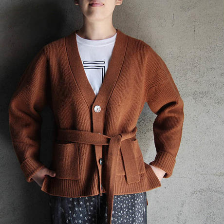 THE FACTORY boiled wool  cardigan