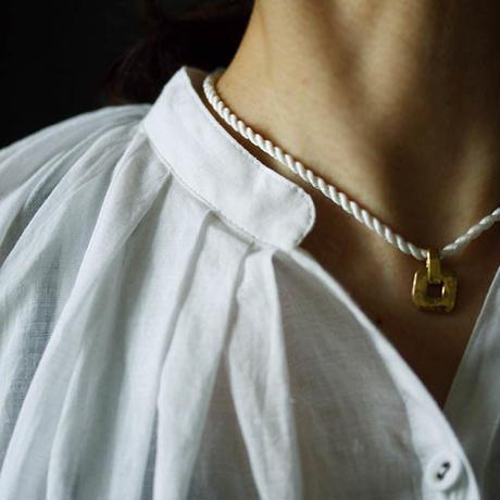 Tabrik khadi cotton blouse white