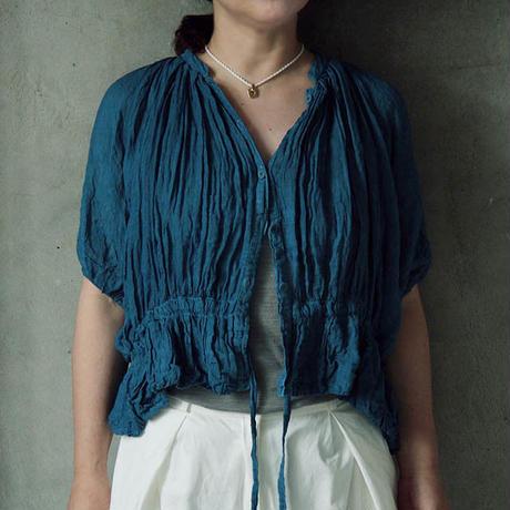 Tabrik linen aizome blouse