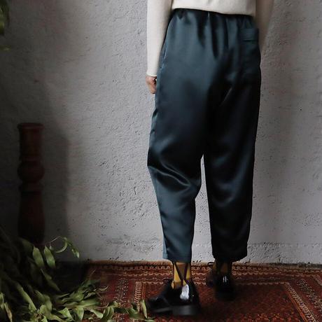 NOTA  satin pants (dark green)