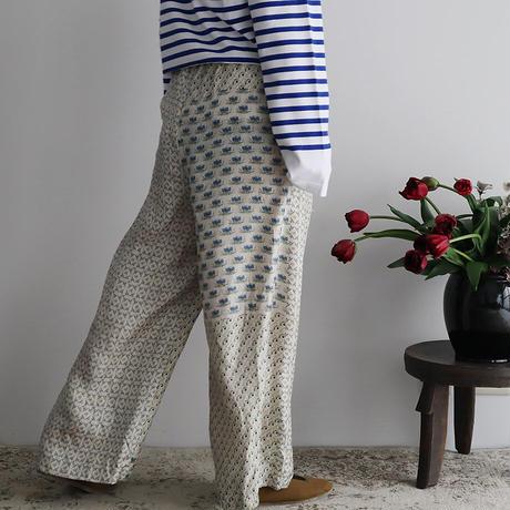 TOWAVASE sarasa silk pants (ivory)
