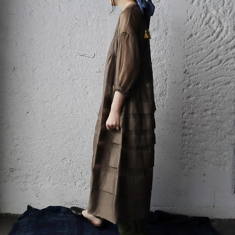 Tabrik  organdy dress (olive)