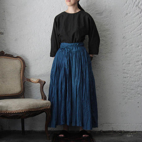 Tabrik gathered skirt (hon-aizome A)
