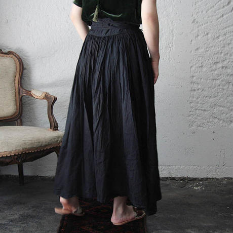 Tabrik gathered skirt (doro-aizome)