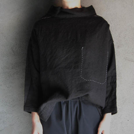 TOWAVASE fisher woman's shirt black